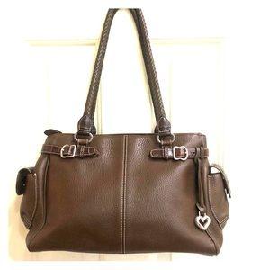 Brighton Brown Pebbled Leather Bag